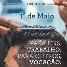 No dia do trabalhador, comemoramos com vocês a vocação de cuidar não só de barbas, cabelos e bigodes, mas da auto-estima de todos nós. Um ótimo dia de descanso e, merecidamente, barbas de molho! #redironmen #barbeariabrasil #Barbershopconnect #barber #thebarberpost #internationalbarbers #barberlife #barbershop #barberman