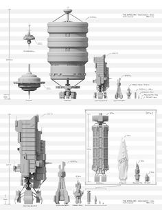 A collection of spaceship illustrations that are based on realistic designs and assumptions. Spaceship Concept, Spaceship Design, Concept Ships, Concept Art, The Expanse Ships, The Expanse Tv, Sci Fi Spaceships, Sci Fi Ships, Posters