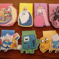 diy Adventure Time Magnetic Bookmarks