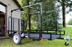 """For angle iron style trailers like these being converted into camping trailers, racks provide an additional benefit. They notably stiffen up the frame. Before the rack was installed, jumping in one corner could easily flex the frame 3""""+"""
