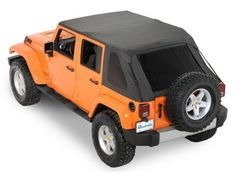 Jeep Wrangler JK Unlimited 2007-2014 Black Diamond FRAMELESS SOFT TOP TRAIL TOP