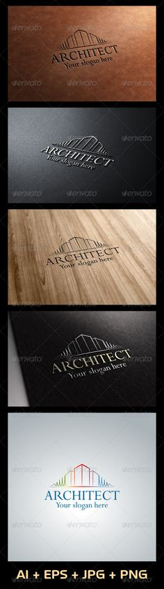 Architect Logo Template  #construction #creative #exterior • Available here → http://graphicriver.net/item/architect-logo/5450982?s_rank=96&ref=pxcr