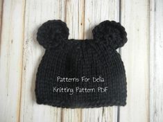 Minnie Mickey Mouse Hat KNITTING PATTERN easy by PatternsForDelia