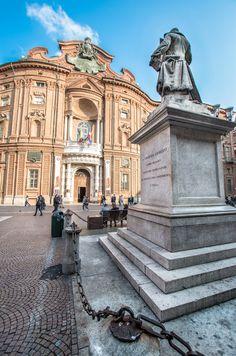 Turin (Italy ) First Italian Parlament (Palazzo Carignano) by Sebastiano Mandalà