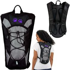 Carry your outing necessities in our streamlined day pack. The backpack has a narrow design, featuring an open top for the main compartment for quick access to your important items. Padded back support and airy net straps provide additional comfort.