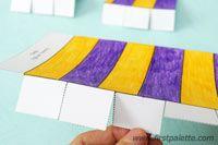 Step 6b Paper Circus Tent craft