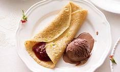 Sugestão para hoje: Crepes com doce de morango, uma receita fácil, que pode acompanhar com gelado ou não