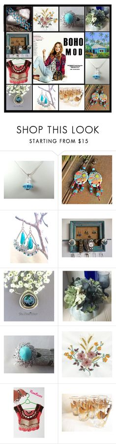 Etsy Boho Mod by riagr on Polyvore featuring Hostess, Libbey and vintage