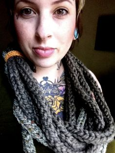 Knit an i cord scarf, $25.00 for finished product here