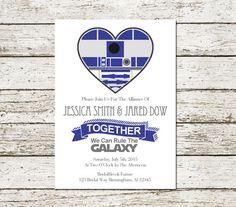 Star Wars Wedding Invitation Printable R2d2 by SweetTeaAndACactus