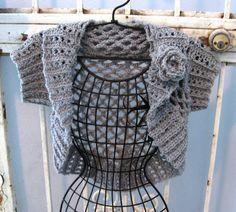 Ellie Shrug Women or Teens Cardigan Bolero Sweater by needlemaven, $52.00