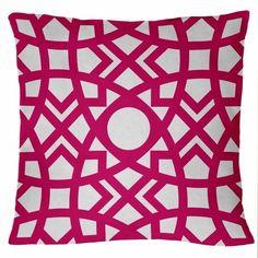 "Jasmina-Hollywood 18"" x 18"" Pink, Fuschia Geometric Moroccan Decorative Pillow cover:Amazon:Home & Kitchen"