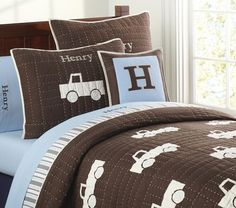 Lakehouse Truck Quilted Bedding   Pottery Barn Kids