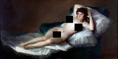 The Naked Maja - The Collection - Museo Nacional del Prado Francisco Goya, La maja desnuda, oil on canvas, (circa Francisco Goya, Art Prints For Sale, Wall Art Prints, Canvas Prints, Goya Paintings, Romanticism Paintings, Wall Art Pictures, Famous Artists, Art History