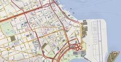 Map Rio de Janeiro Center 2016 Olympic Games Rio. Vector map in Adobe Illustrator Available.