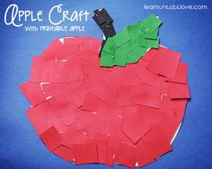 cover apple (or pumpkin) with cut up pieces of paper glue( or double sided tape?)