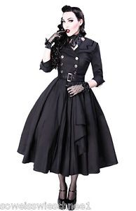 Restyle-Kleid-Mantel-Vintage-Gothic-Rockabilly-Trenchcoat-50s-Dress-PinUp-R22