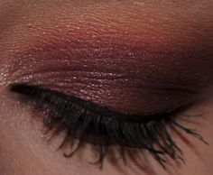 burgundy and warm eyeshadow look, made by me