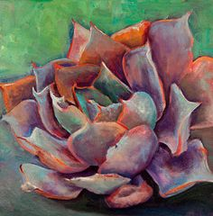Succulent Painting - Pink Echeveria by Athena Mantle Step By Step Watercolor, Watercolor Video, Watercolor Flowers, Abstract Canvas Art, Oil On Canvas, Canvas Prints, Art Prints, Succulent Wall Art, Succulent Plants