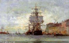 The Pequod in harbor