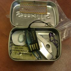Mini Altoids Urban Survival Kit