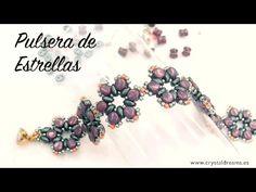 Stars Bracelet with Pellet Beads ~ Seed Bead Tutorials