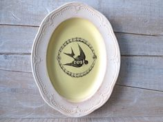 Yellow Cottage Wall Decor // Sparrow // Rest SIgn // by SweetMeas, $28.00
