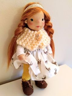 Ayla 11 inches Waldorf inspired doll natural fiber art doll | Etsy Ooak Dolls, Art Dolls, Waldorf Dolls, Steiner Waldorf, Felt Shoes, Fiber Art, Doll Clothes, Pure Products, Inspired