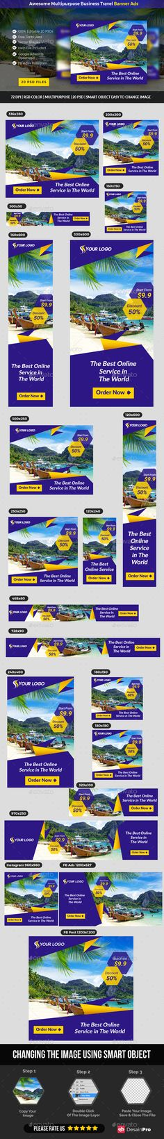 Travel Promotion Banners Attractive Banners