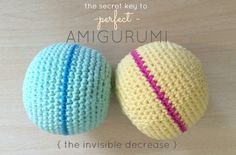 The Secret To Perfect Amigurumi + Crochet Ball Pattern |Just B Crafty