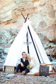 Southwestern Boho Chic Wedding Inspiration // Photo by AK Studio & Design, design by Forevermore Events