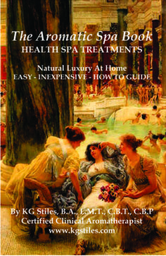 IN TIME FOR CHRISTMAS - THE AROMATIC SPA BOOK 17 Professional Health Spa Treatments. Create natural, luxurious, easy & inexpensive professional treatments at home from restoring stressed out hair & skin to relieving achy muscles & joints. BUY for you or someone you love! CLICK LINK to learn more...