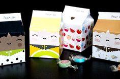 Pequeñas cajas de leche para imprimir gratis (y son ideales regalos para invitados...)