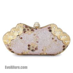 Fashion Gorgeous Embroidered Clutch/Purse/Wedding & Evening Bag Pink - EveAllure