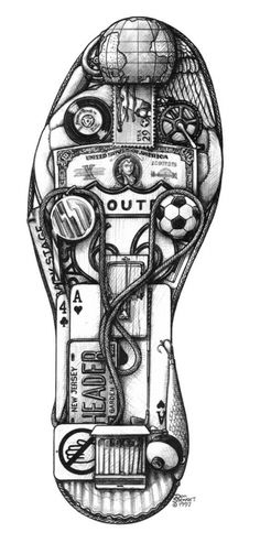 """SOCCER SHOE: Get your kicks!  World Cup, Dribble, Pass, Trap, Dive, Block, Tackle, Chip, Bicycle Kick, Personal Record, Match, Striker, Winger, Back Four, Red Card, Pitch, and a """"Gold"""" Tender."""
