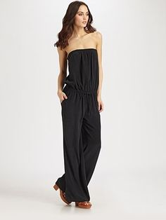Joie Joan Silk Strapless Jumpsuit | This should allow for some food and drink indulgence| #SaksLLTrip