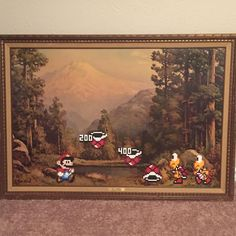 Mario being mean to some poor koopa troopas.