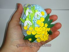 Items similar to Quilled Easter egg with spring flowers Quilling egg with flowers Spring decor Happy Easter Ornaments Easter Decorations Easter Gifts on Etsy Quilling Tutorial, Quilling Instructions, Quilling Videos, Quilling Designs, Paper Quilling, Easter Projects, Projects To Try, Easter Holidays, Egg Decorating