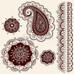 lace tattoo | Henna Tattoo Paisley Flower Doodles Vector by blue67, Royalty free ...