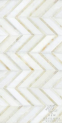 Gold & White Chevron Floor Tile Or Wall Tile
