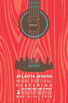 AJMF Poster Design by Katherine Konzal, via Behance