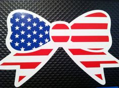American Flag Bow Decal by SimpleSweetMonograms on Etsy, $5.00