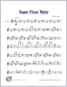 Sugar Plum Fairy | Free Sheet Music for Guitar Solo