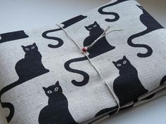 Fabric linen cotton with cats by LINENstep on Etsy