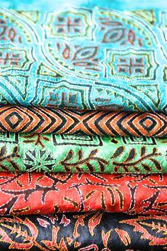 Modern kantha work on silk!
