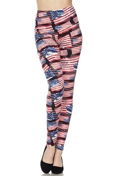 a88267b3495f4 Ready to show off your American spirit? Order our 3D Hologram USA Flag  Leggings in