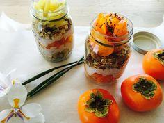 Persimmon Breakfast Parfaits Persimmon Fruit, Persimmon Recipes, Fruit Recipes, Cooking Recipes, Fresh Fruits And Vegetables, Muesli, Parfait, Menu, Breakfast