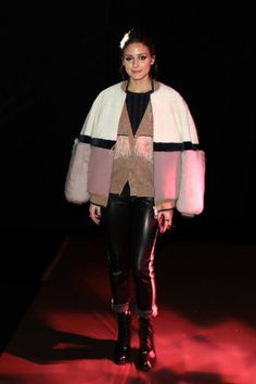 Olivia Palermo attends the Drome show as part of the Paris Fashion Week Womenswear Fall/Winter 2018/2019 on March 3 2018 in Paris France