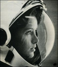 This original pin of this photo identified it to be of the first woman astronaut shot into space, Valentina Vladimirovna Tereshkova. However, thanks to StarTalk fan Kovács István we know that is incorrect. Tereshkova was the first woman in space, but this photo is actually of Anna Fisher, the first mother in space (NASA STS-51A, November 8, 1984)  Here is a link to a photo of the real Tereshkova :)  http://i4.photobucket.com/albums/y111/tonyquine/terechkova-4.jpg