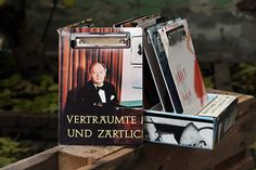 "Vinyl-Klemmbrett A5 ""Verträumt"" Shops, Vinyl, Magazine Rack, Storage, Cover, Home Decor, Paper, Stationery Set, Boards"